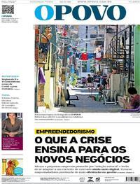 Capa do jornal O Povo 25/05/2020