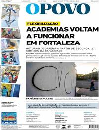 Capa do jornal O Povo 25/07/2020