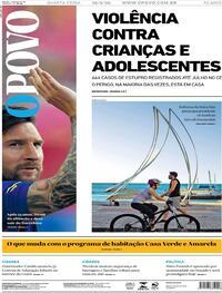 Capa do jornal O Povo 26/08/2020