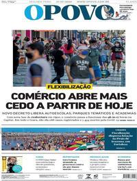 Capa do jornal O Povo 27/07/2020