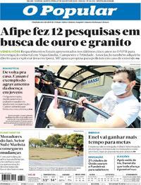 Capa do jornal O Povo 27/08/2020