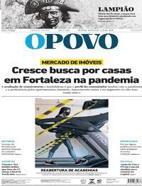 Capa do jornal O Povo 28/07/2020