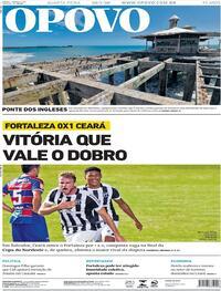 Capa do jornal O Povo 29/07/2020