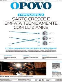 Capa do jornal O Povo 29/10/2020