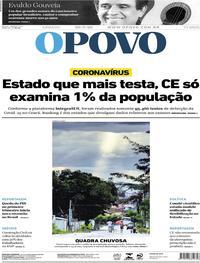 Capa do jornal O Povo 30/05/2020