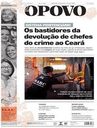 Capa do jornal O Povo 31/07/2020