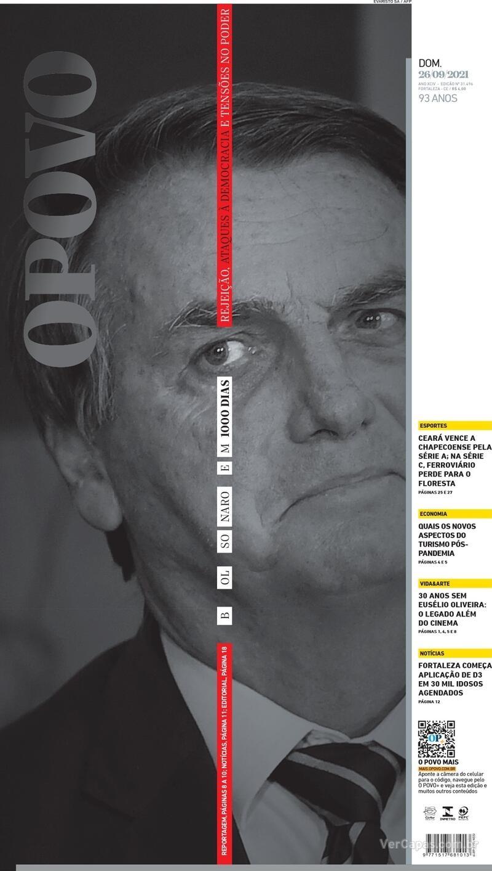 Capa do jornal O Povo 26/09/2021