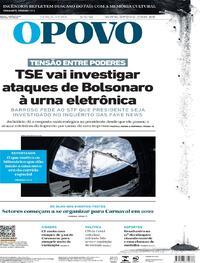 Capa do jornal O Povo 03/08/2021