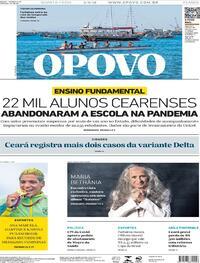 Capa do jornal O Povo 04/08/2021