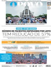 Capa do jornal O Povo 14/05/2021