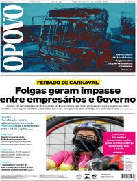 Capa do jornal O Povo 23/01/2021
