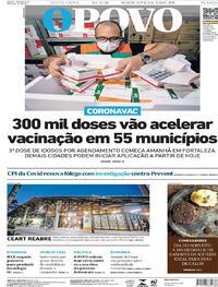 Capa do jornal O Povo 24/09/2021