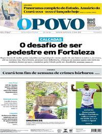 Capa do jornal O Povo 27/09/2021