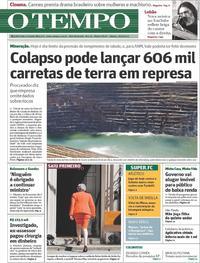 Capa Jornal O Tempo 25/05/2019