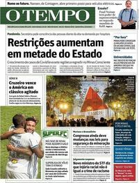 Capa do jornal O Tempo 03/12/2020