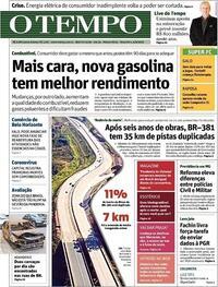 Capa do jornal O Tempo 04/08/2020