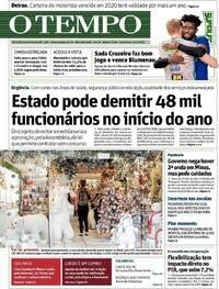 Capa do jornal O Tempo 04/12/2020