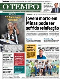 Capa do jornal O Tempo 08/07/2020