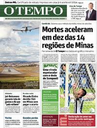 Capa do jornal O Tempo 13/08/2020