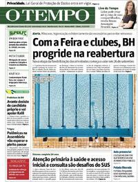 Capa do jornal O Tempo 19/09/2020