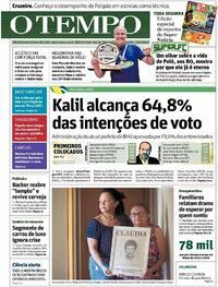 Capa do jornal O Tempo 19/10/2020