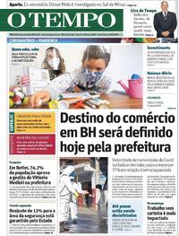 Capa do jornal O Tempo 29/05/2020
