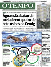 Capa do jornal O Tempo 04/08/2021