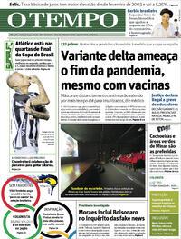 Capa do jornal O Tempo 05/08/2021