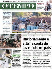 Capa do jornal O Tempo 14/05/2021