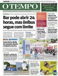Capa do jornal O Tempo 15/10/2021