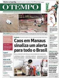 Capa do jornal O Tempo 16/01/2021
