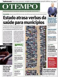Capa do jornal O Tempo 16/04/2021