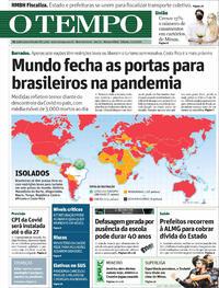 Capa do jornal O Tempo 17/04/2021
