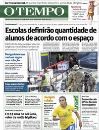 Capa do jornal O Tempo 19/06/2021