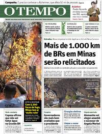 Capa do jornal O Tempo 25/09/2021