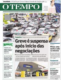 Capa do jornal O Tempo 27/02/2021