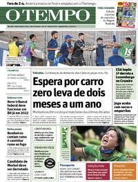 Capa do jornal O Tempo 27/09/2021