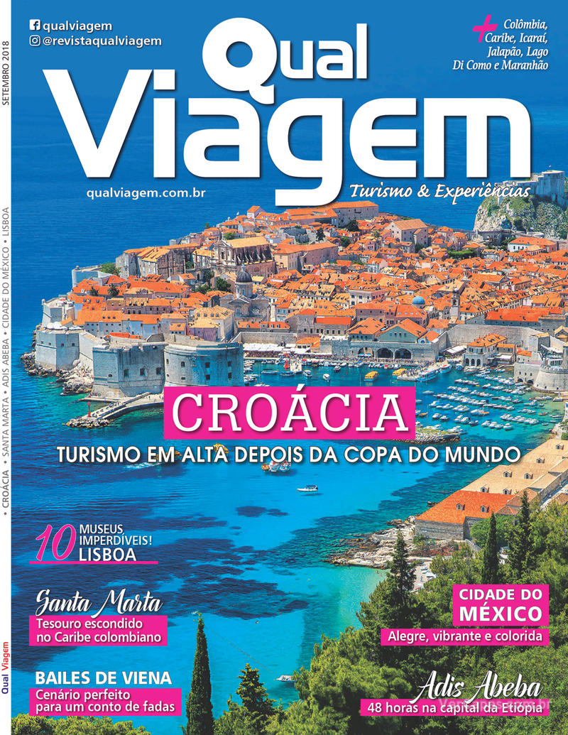 Capa revista Qual Viagem 05/09/2018