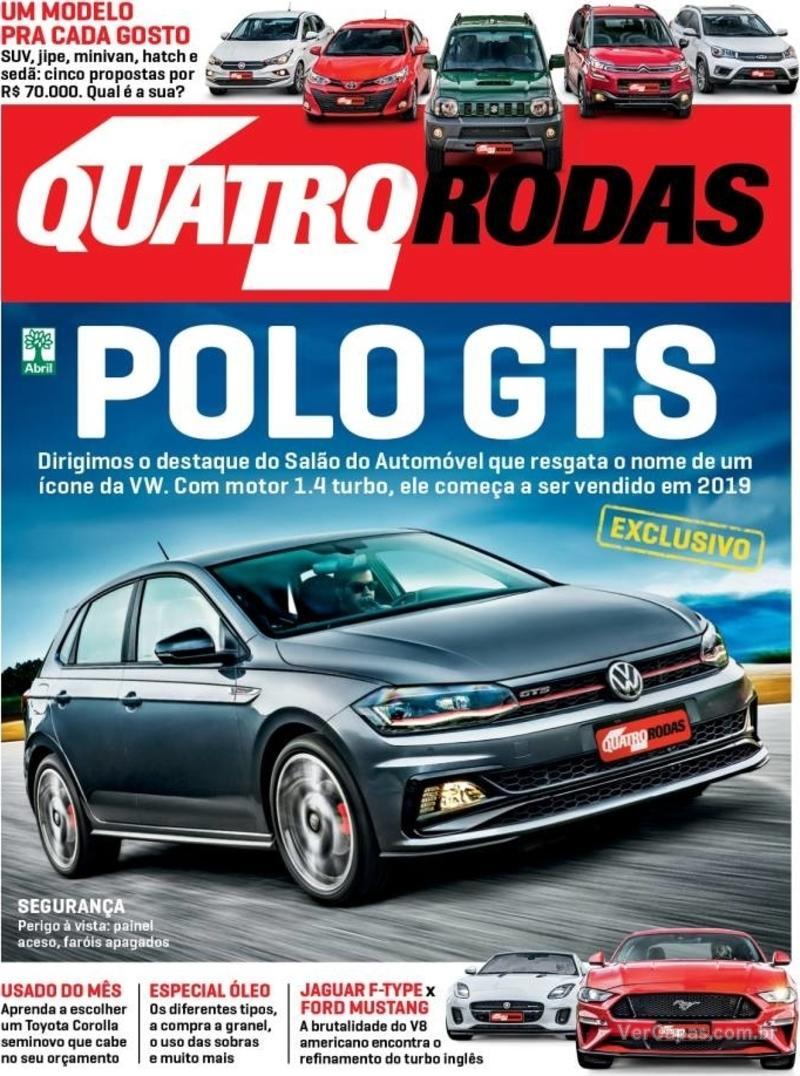 Capa Quatro Rodas 2018-12-01
