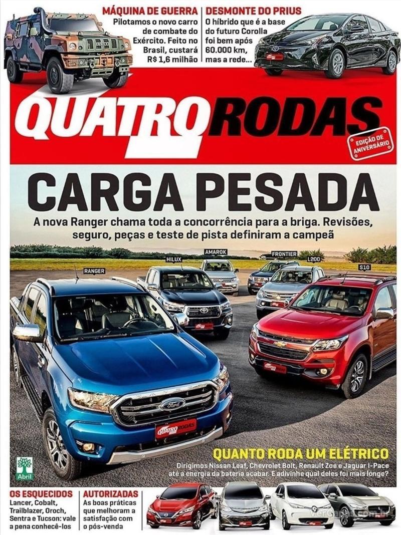 Capa revista Quatro Rodas 01/07/2019