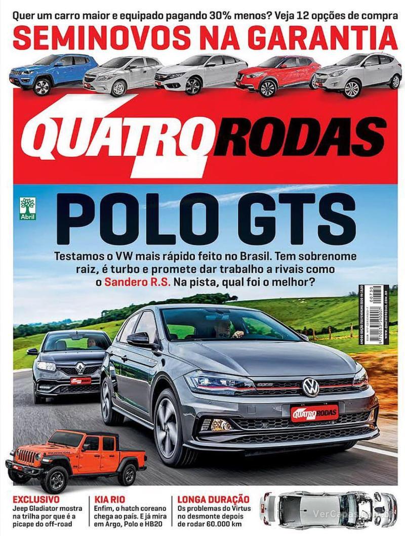 Capa revista Quatro Rodas 01/02/2020
