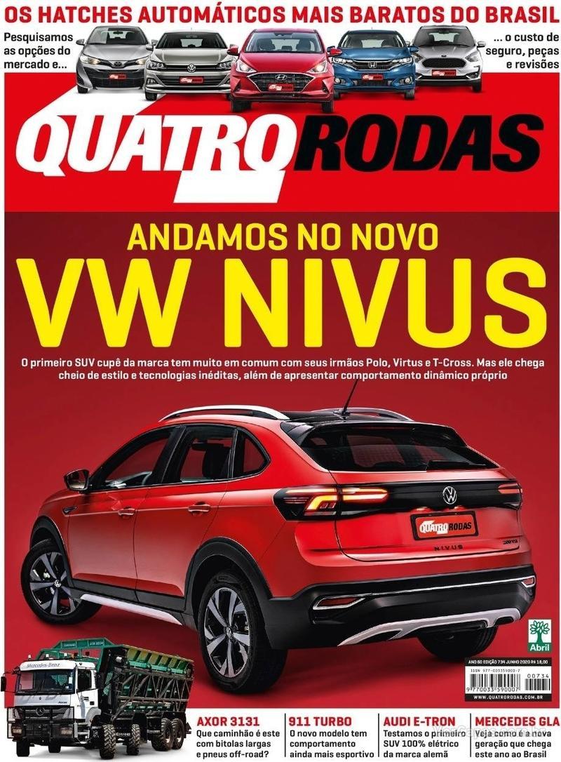 Capa da revista Quatro Rodas 01/06/2020