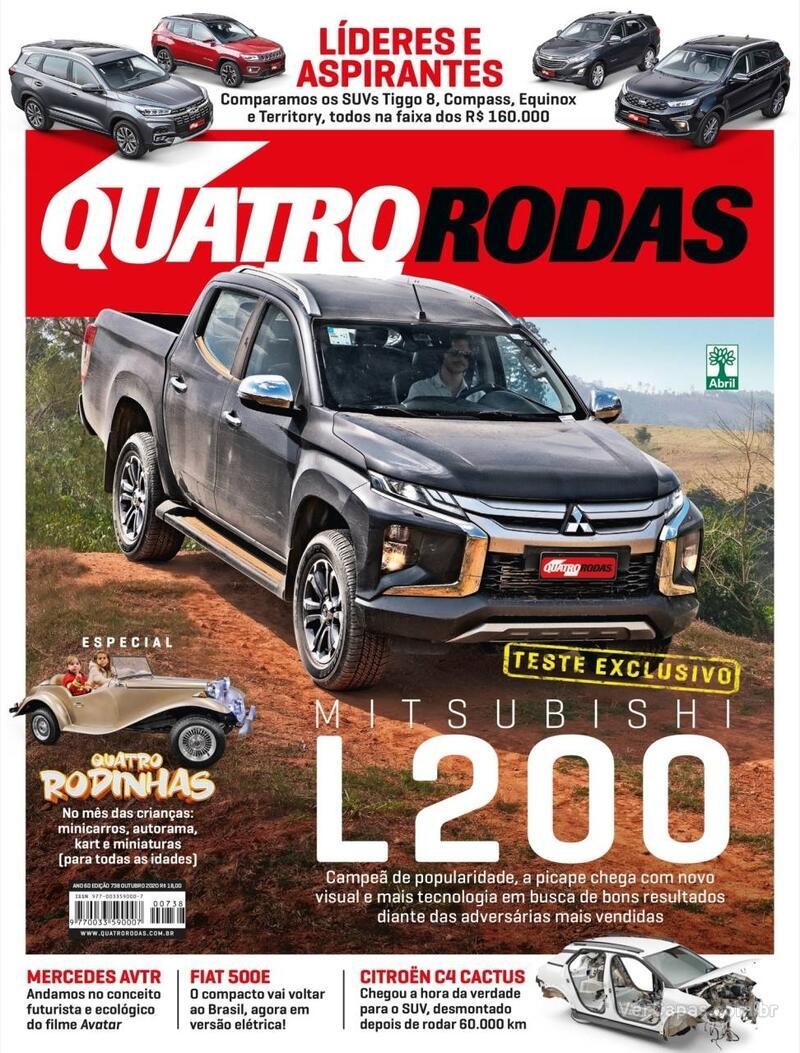 Capa da revista Quatro Rodas 01/11/2020