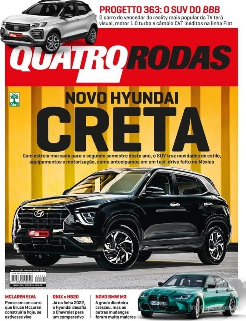 Capa da revista Quatro Rodas 01/05/2021