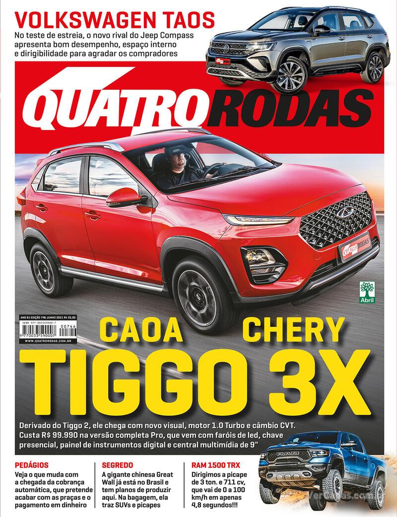 Capa da revista Quatro Rodas 01/07/2021