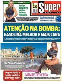 Capa do jornal Super Notícia 04/08/2020
