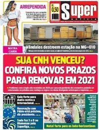 Capa do jornal Super Notícia 04/12/2020