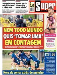 Capa do jornal Super Notícia 08/08/2020