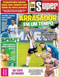 Capa do jornal Super Notícia 13/08/2020