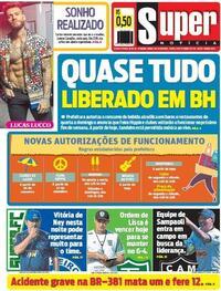 Capa do jornal Super Notícia 19/09/2020